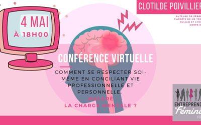 Protégé: Charge Mentale | Conférence Virtuelle Clotilde Poivillier
